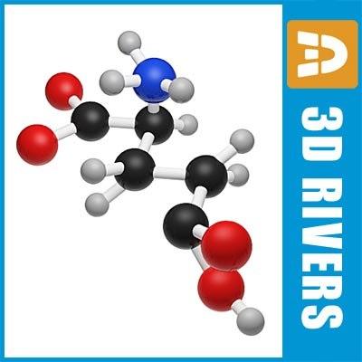 glutamic acid 3d model